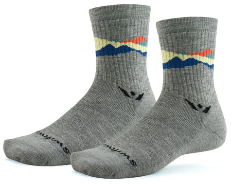 Swiftwick Pursuit Hike Six Medium-Weight Socks (Sunset Peaks) (S)