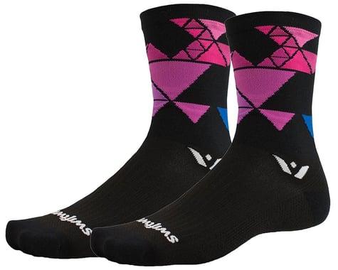 Swiftwick Vision Six Geometric Socks (Black) (L)