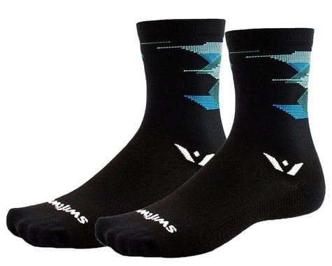 Swiftwick Vision Six Geometry Triangles Socks (Black) (L)