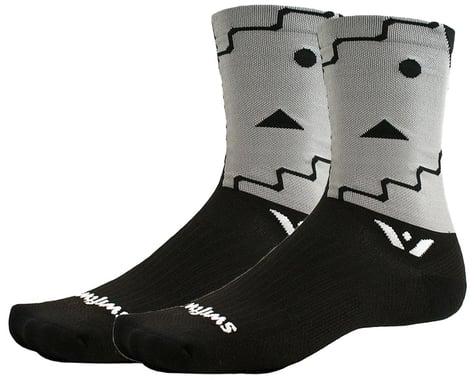 Swiftwick Vision Six Abstract Socks (Black) (S)