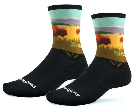 Swiftwick Vision Six Socks (Yellowstone Bison) (S)
