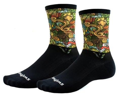 Swiftwick Vision Six Socks (Impression Boondocks) (M)