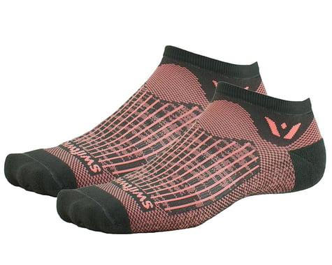 Swiftwick Aspire Zero Socks (Bolt Grey/Rose) (L)