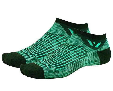 Swiftwick Aspire Zero Socks (Bolt Black/Seafoam) (L)