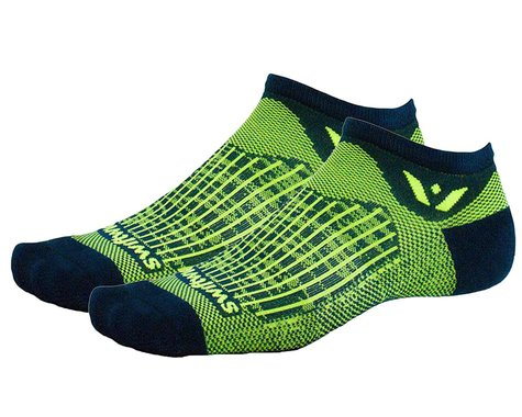 Swiftwick Aspire Zero Socks (Bolt Navy/Citron) (L)