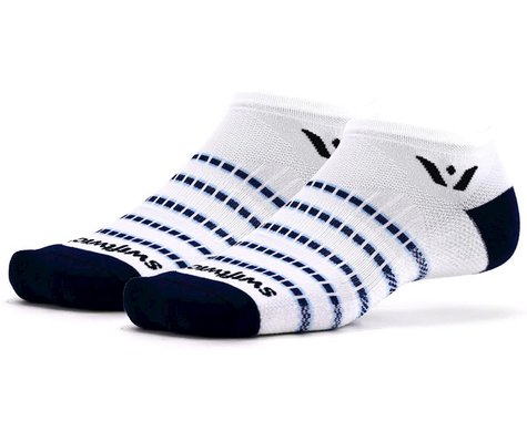 Swiftwick Aspire Zero Socks (White/Navy) (L)