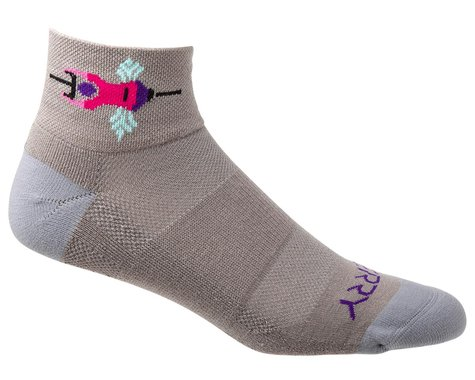 Terry Air Stream Socks (Team Ride/Grey)