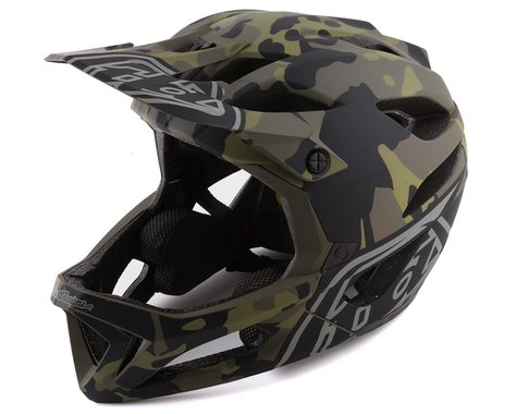 Troy Lee Designs Stage MIPS Helmet (Camo Olive) (XS/S)