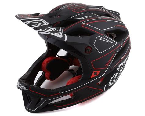 Troy Lee Designs Stage MIPS Helmet (Pinstripe Black/Red) (M/L)