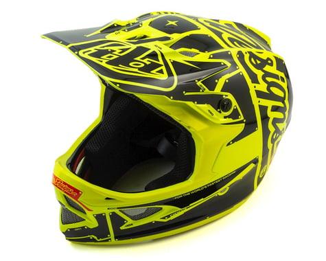 Troy Lee Designs D3 Fiberlite Full Face Helmet (Flo Yellow)