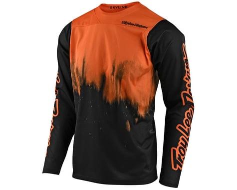 Troy Lee Designs Skyline Long Sleeve Jersey (Diffuze Tangelo/Black) (L)