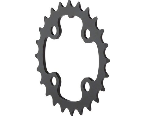 Truvativ Trushift Aluminum 2x Chainring (Black) (64mm BCD) (Offset N/A) (24T)
