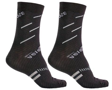 VeloToze Active Compression Cycling Socks (Black/Grey) (S/M)