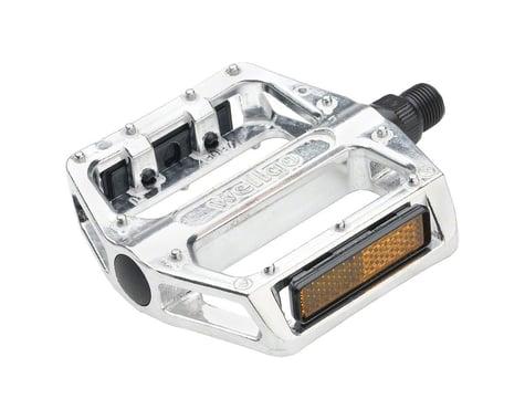 """Wellgo B087 Platform Pedals (Silver) (Aluminum) (1/2"""")"""