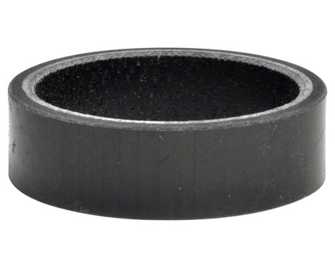 """Wheels Manufacturing Carbon Headset Spacer (Black) (1-1/8"""") (10mm)"""
