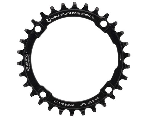 Wolf Tooth Components Drop-Stop Chainring (Black) (104 BCD) (Offset N/A) (30T)