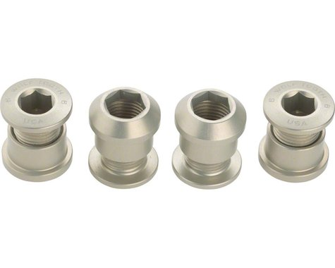 Wolf Tooth Components Dual Hex Fitting Chainring Bolts (Silver) (6mm) (4)