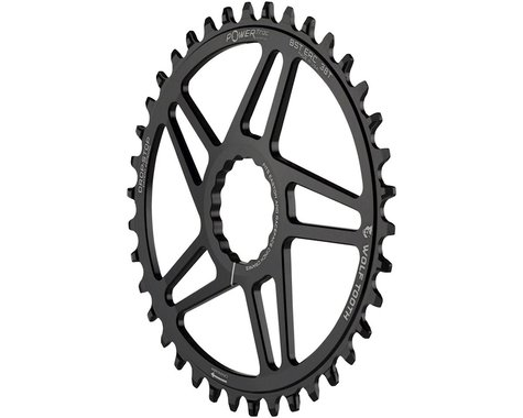 Wolf Tooth Components Easton Direct Mount Oval Drop-Stop Chainring (Black) (3mm Offset (Boost)) (38T)