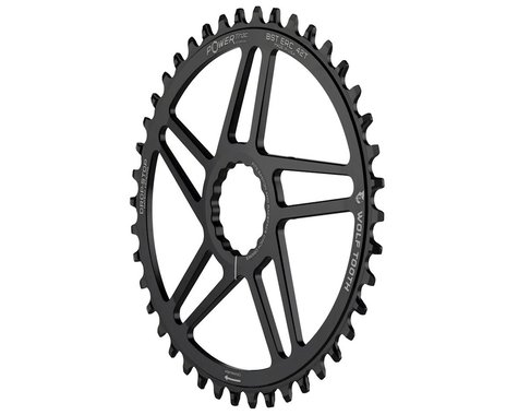 Wolf Tooth Components Easton Direct Mount Oval Drop-Stop Chainring (Black) (3mm Offset (Boost)) (42T)