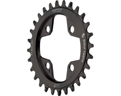 Wolf Tooth Components PowerTrac Drop-Stop Chainring (Black) (64mm BCD) (Offset N/A) (28T)