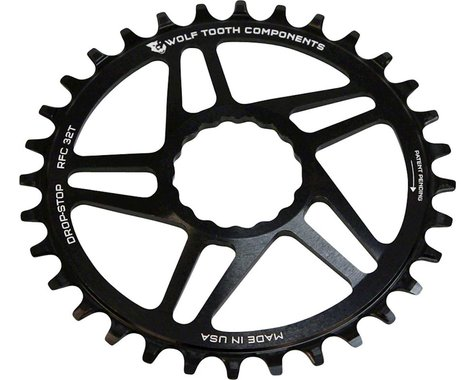 Wolf Tooth Components Drop-Stop Race Face Cinch Chainring (Black) (Boost) (3mm Offset (Boost)) (40T)