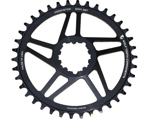 Wolf Tooth Components Sram Direct Mount Drop-Stop Chainring (Black) (6mm Offset) (38T)