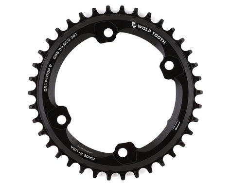 Wolf Tooth Components Shimano GRX Drop-Stop FT Chainring (Black) (38T)