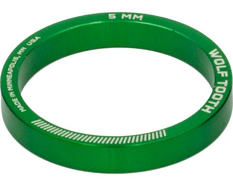 """Wolf Tooth Components 1-1/8"""" Headset Spacers (Green) (5) (5mm)"""