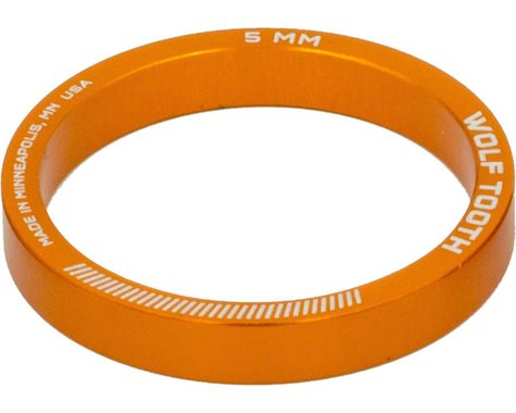 """Wolf Tooth Components 1-1/8"""" Headset Spacer (Orange) (5) (5mm)"""
