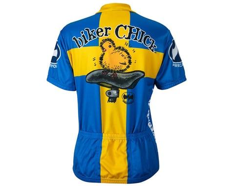 World Jerseys Women's Swedish Chick Short Sleeve Jersey (Blue/Yellow)