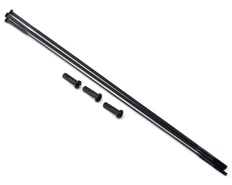 Zipp Sapim Straight Pull Spokes & Nipples (Black) (CX-Ray) (184mm)